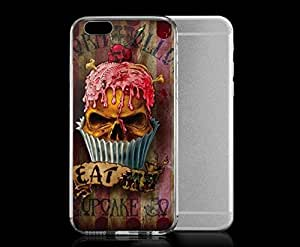 Light weight with strong PC plastic case for iPhone 6 plus 5.5 Art Skull & Bones UL13 Eat Me