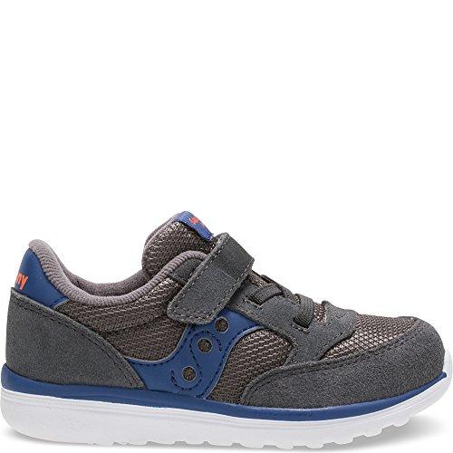 Saucony Baby Jazz Lite Sneaker (Toddler/Little Kid/Big Kid), Grey/Blue, 4 W US Toddler (Light Roadrunner)