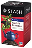Stash Tea English Breakfast Black Tea, 20 Count Tea Bags in Foil (Pack of 6) Individual Black Tea Bags for Use in Teapots Mugs or Cups, Brew Hot Tea or Iced Tea