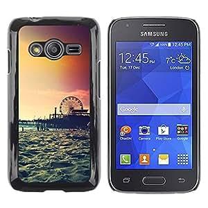 TopCaseStore / la caja del caucho duro de la cubierta de protección de la piel - Island New York Summer - Samsung Galaxy Ace 4 G313 SM-G313F