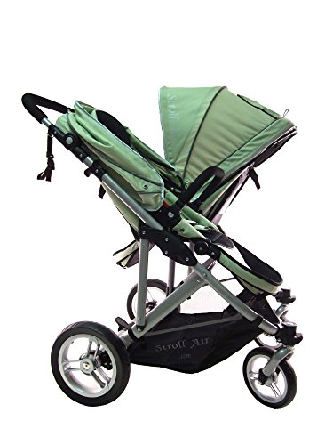 STROLL-AIR StrollAir My Duo Twin/Double Stroller, Green