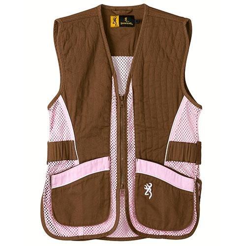 - Browning Vest, Jr For Her Brown/Pink, Size: M (3050548802)