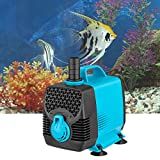 Signstek 660GPH Submersible Pump for Aquarium, Fish Tank, Pond Fountain Water Pump Support with Fresh Water and Salt Water, 55W