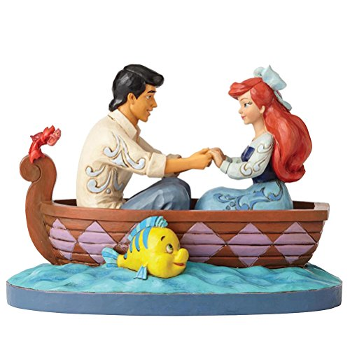 re Disney Traditions by Enesco Ariel and Prince Eric In Rowboat Figurine (Disney Collectible Figurines)