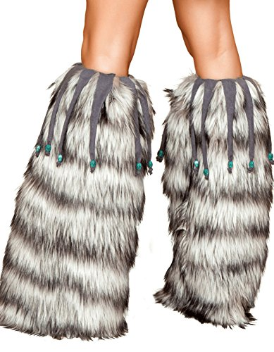 Roma Costume Leg Warmers with Beaded Fringe Bundle with Pink Shorts