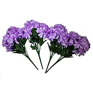 MM TJ Products Artificial Chrysanthemum Bush: 7 Stems Pack of 4 1