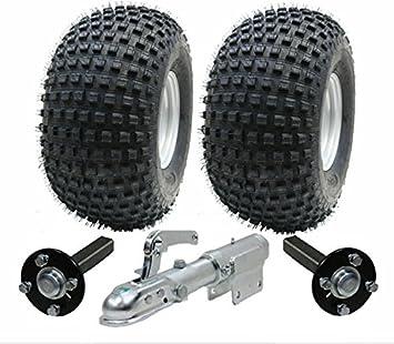 juego de remolque ATV - Quad remolque - ruedas Wanda + hub + y talón de enganche giratorio, 310kg: Amazon.es: Coche y moto