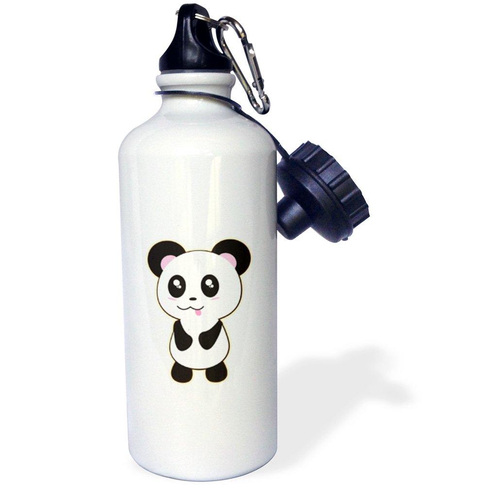 21 oz Sports Water Bottle Cute Baby Kawaii Panda Bear Animal 3dRose Dooni Designs Cute Kawaii Designs wb/_239406/_1