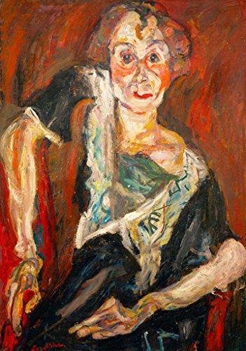 kunst für alle Art Print/Poster: Chaim Soutine The Old Actress Picture, Fine Art Poster, 19.7x27.6 inch / 50x70 cm