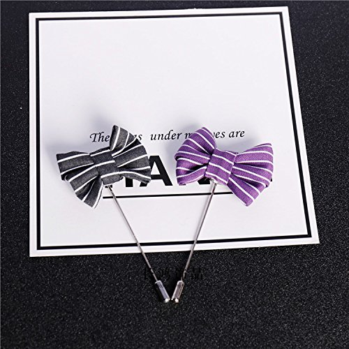 Korean handmade cloth gentleman brooch pin stripe suit and bow simple word igan sweater accessories