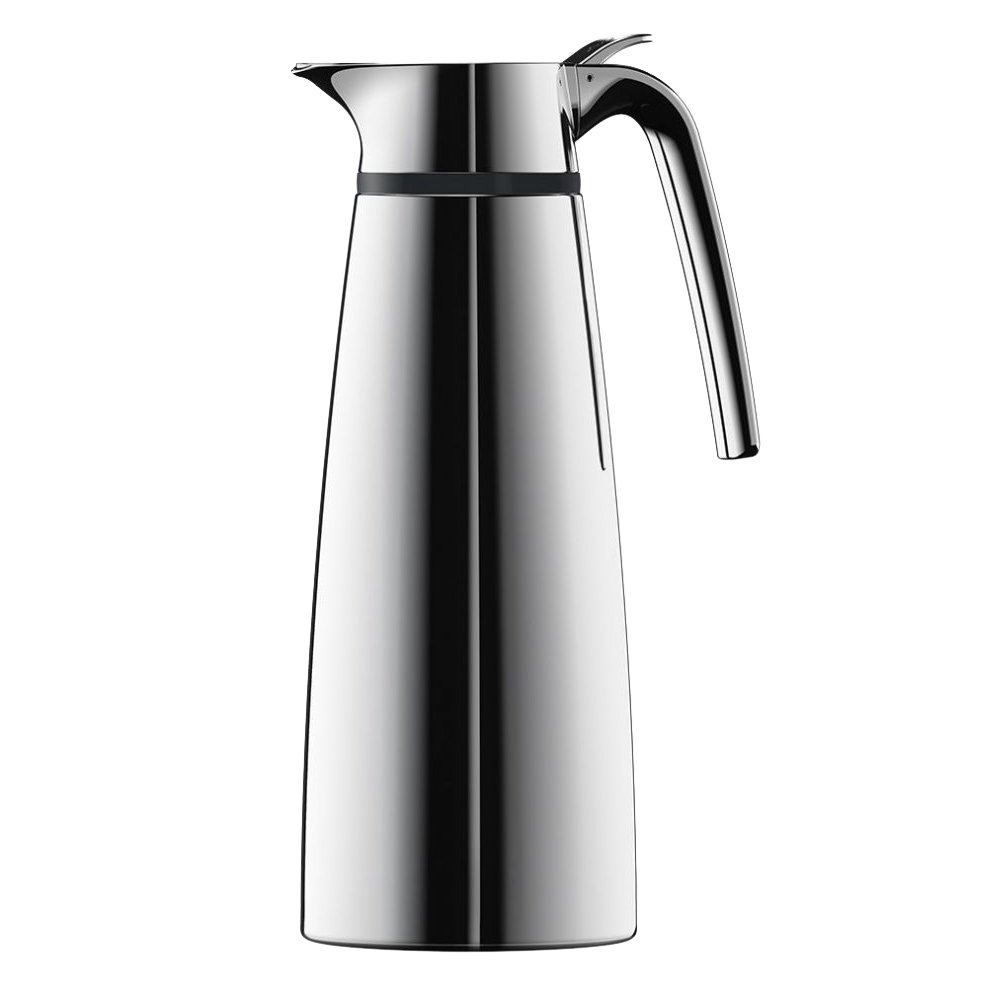 Emsa Elea Double Walled Vacuum Insulated Thermal Carafe, 33.82 oz, Silver
