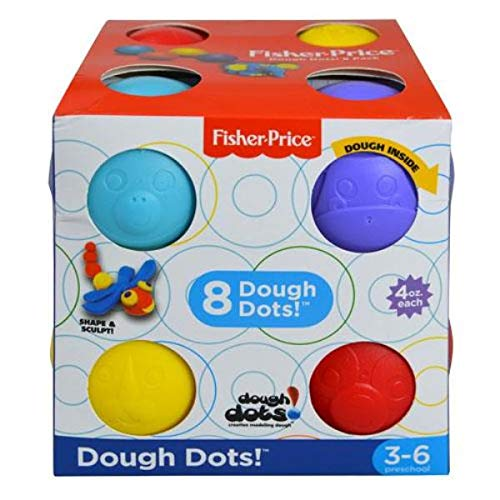 Red//Blue//Yellow//Purple Fisher-Price Modeling Dough 4 oz UPD Inc CB7BR 8 8 Pack