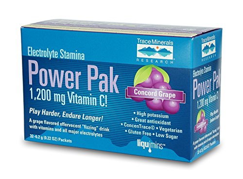 Trace Minerals Research Electrolyte Stamina Power Pak, Concorde Grape, 30 Count