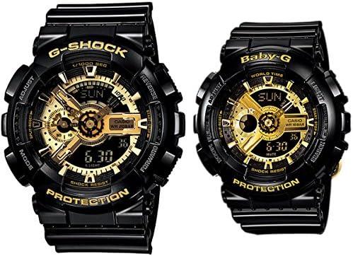 Safe [2Year Warranty] Casio Pair Watch GA-100–acs-110gb gpw-1000gb-1a Ba–110–1A Black Gold Analog Digital Black Gold Domestic Part Number Ga–acs-110gb–1ajf Ba–110–1ajf [parallel import goods]
