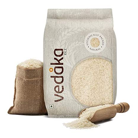Amazon Brand - Vedaka Kolam Rice, Steamed, 10kg