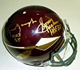 Sammy Baugh and Sonny Jurgensen Autographed Washington Redskins Authentic Proline Full Size Maroon Throwback Style Helmet