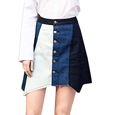 LaoZanA Mujer Elegante Falda Corta Lápiz Cintura Alta Retro ...
