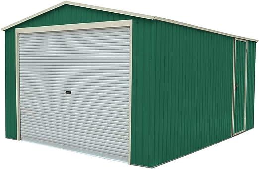 Garaje Metálico Gardiun Essex (Verde) 19, 52 m² Ext: Amazon.es: Jardín