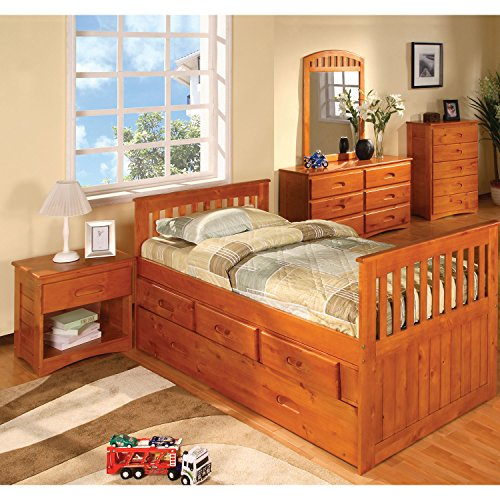 Cambridge 1-Drawer in Honey Oak Children's Nightstands by Cambridge