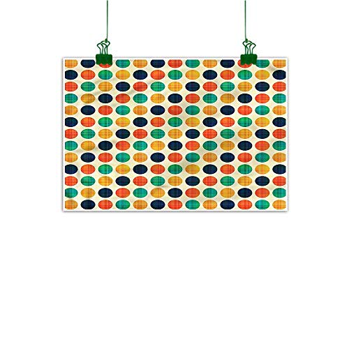 - duommhome Wall Art Stickers Hand Painted Polka Dots Hand Painted Funky Points Nostalgia 16