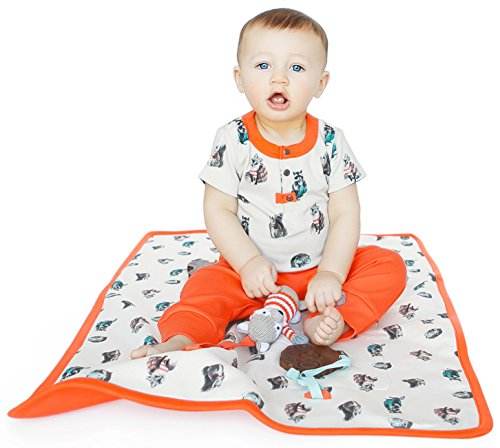 Finn Emma Organic Cotton Play Mat for Baby Boy or Girl Woodland
