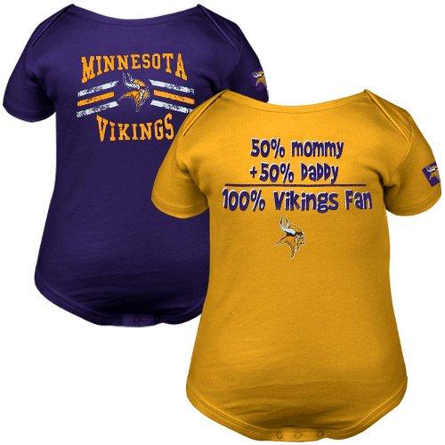 6805d091649 NFL Minnesota Vikings Two Pack Short Sleeve Bodysuit Infant/Toddler Boys'