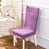Chair Cover Removable Thick Plush Stretch Elastic Slipcovers Restaurant For Weddings Banquet Folding Hotel Chair Covering color2 universal sizes