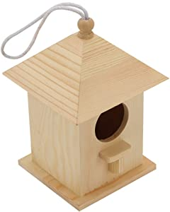 Paintable Bird House - Bird Watching Made Easy - Attracts Small Birds Like Finch, Parakeet - Craft for Kids, Home Decor - Perfect Gifting Option - Hang Indoors or Outdoors - Durable Construction