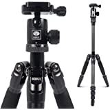SIRUI Carbon Fiber Travel 5C Tripod 54.3 inches Lightweight Portable Camera Tripod with Ball Head and Arca Swiss Plate Load C