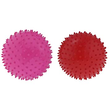 2 Piezas 22.8 cm Juguete de Pelota Hinchable Bolas de Puntas ...