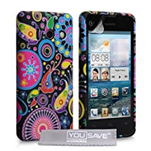 Huawei Ascend Y300 Case Floral Jellyfish Silicone Gel Cover