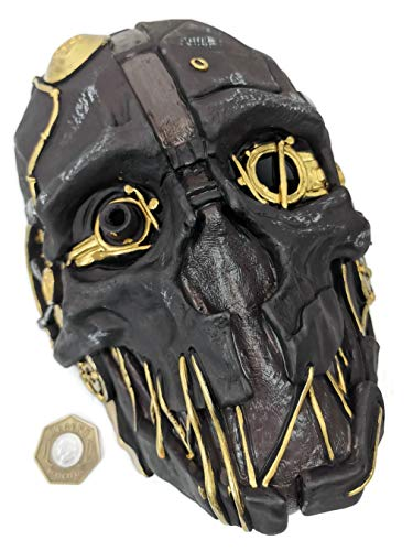 Dishonored Mask Corvo Attano Rat Urethane Costume Cosplay Halloween + Game Coin -