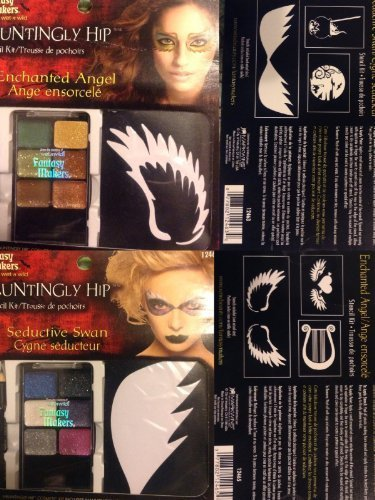 Haunting Hip Stencil Kit Enchanted Angel and Seductive Swan Halloween Makeup by Fantasy Makers