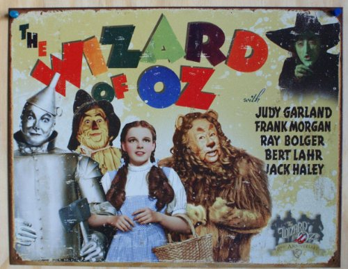 Poster Discount Wizard of Oz 70th Anniversary Retro Distressed Tin Sign (1562)