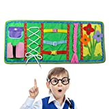 Montessori Learn Dress Boards, FOONEE Early Learning Basic Life Skills Book, Learn to Zip, Snap, Button, Buckle, Lace and Tie,Educational Toy for Baby Toddlers Children 2-7 Years.