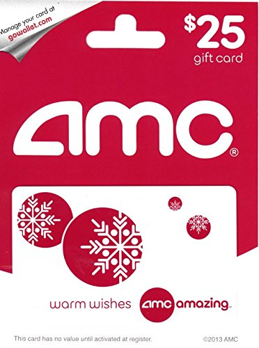 AMC Theatre Holiday  Gift Card $25 (Gift Holiday Clearance)