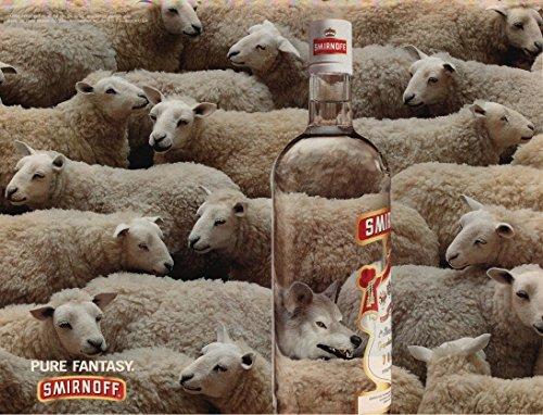 print-ad-1996-smirnoff-vodka-wolf-among-sheep-pure-fantasy-vintage-color-ad-usa-great-original-