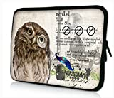 ProfessionalBags Universal 17 inches Laptop Netbook Bag Sleeve Case Cover for 17.1 17.3 17.4 inch Apple Macbook Pro IBM Acer Sony Lenovo Toshiba Satellite Alienware m17x HP Pavilion DV7 Dell Inspiron 17R XPS Gateway Notebook,Owls