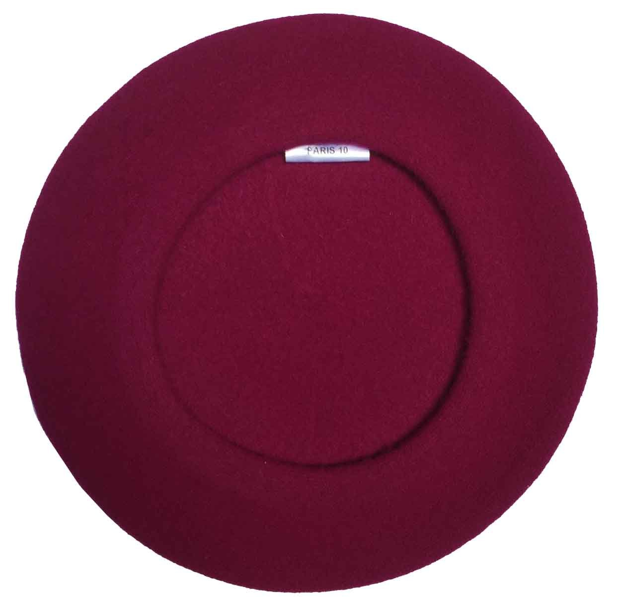 Laulhere Traditional French Wool Beret, Raspberry