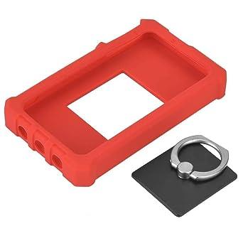 Estuche orotective de silicona, Funda de silicona para osciloscopio, funda de silicona para DS212 Mini tamaño de bolsillo Osciloscopio de almacenamiento portátil digital con 1Pcs Anillo soporte - Roj: Amazon.es: Industria, empresas