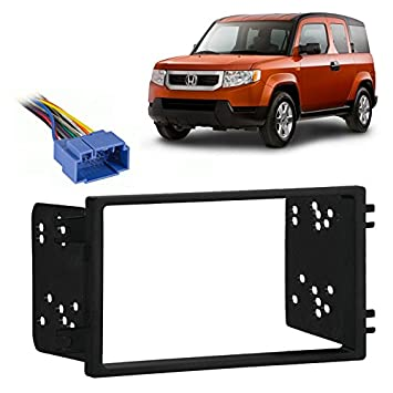 51qduhj54vL._SY355_ amazon com fits honda element lx 05 11 double din stereo harness 2004 honda element radio wiring diagram at mr168.co