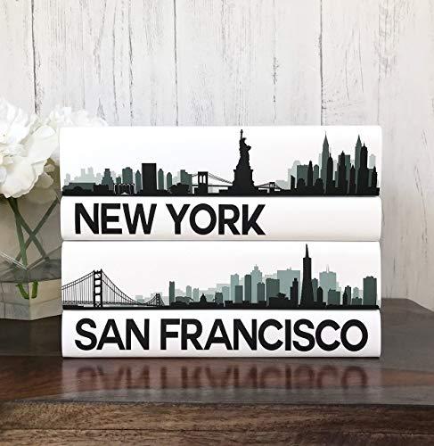 Jacket Traveler Urban (Custom City Skyline Decorative Books, Custom City Coffee Table Books, NY, Los Angeles, Chicago, Housewarming Wedding Gift, Booklover)