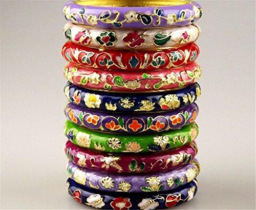 Brand NEW 30pcs Stunning Chinese Handmade Cloisonne Enamel Cuff Bracelet Bangle