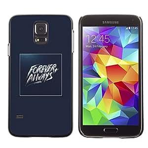 Be Good Phone Accessory // Dura Cáscara cubierta Protectora Caso Carcasa Funda de Protección para Samsung Galaxy S5 SM-G900 // Forever Always Gold Blue Baywatch