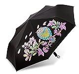GKRY Fashion Art Umbrella/Windproof Travel Umbrellas/Folding Umbrella/for Business and Travels/SPF 191+ SUN RAIN Umbrella/RAIN Umbrella The ultra fine umbrella blue sky.