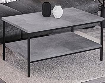 Endo Couchtisch Aspen Industrial Loft Tisch Metall 100x60cm
