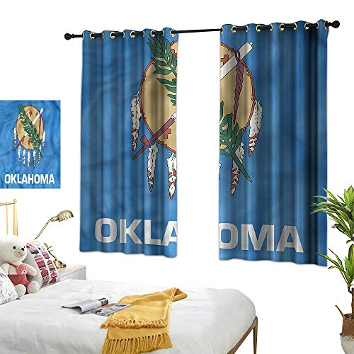 - G Idle Sky Printed Curtain American Mildew-Proof Polyester Fabric Native Americans Oklahoma 63
