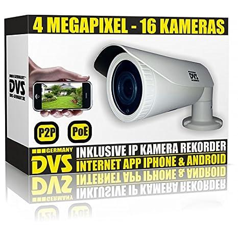 Dvs Alemania – 16 canales IP VHS Incluye 16 x IP PoE de 4 megapíxeles vigilancia