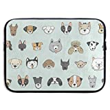 Funny Design Cartoon Dog Face Emoji Laptop Sleeve Waterproof Neoprene Diving Fabric Protective Briefcase Laptop Bag for IPad, Notebook/Ultrabook/Acer/Asus/Dell