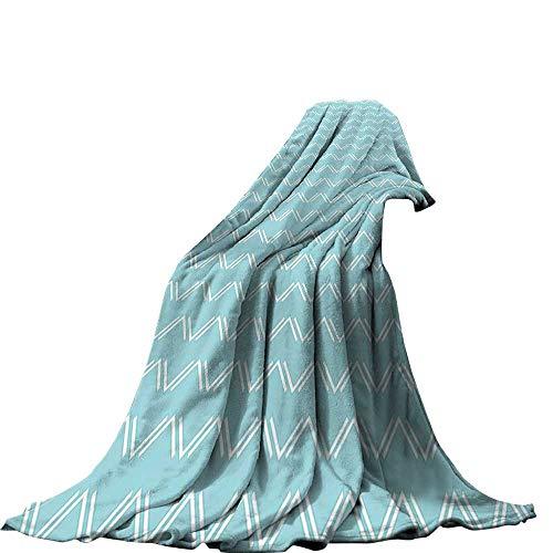 QINYAN-Home - Manta de Felpa (50 x 30 cm), diseño de Zigzag chevrón con líneas Elegantes, Cuadrados, diseño geométrico...